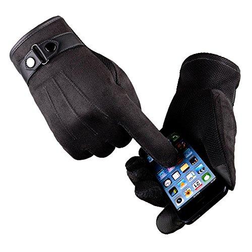 Mnyycxen Men Faux Suede Anti Slip Warm Motorcycle Ski Snow Snowboard Gloves Driving Cycling Gloves - Game Board Top Shop