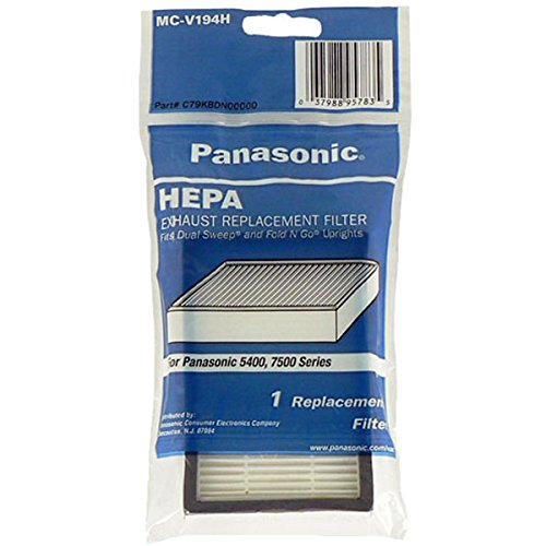 Hepa Type Exhaust Filters - Panasonic MC-V199H HEPA Filter for MC-UL671 and MC-UL675 Upright Vacuum Cleaners