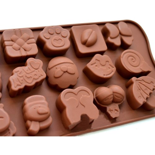 Silica Gel 15 Holes Animal Cake Mold