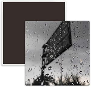 In The Rainy Day Photography Square Ceramics Fridge Magnet Keepsake Memento