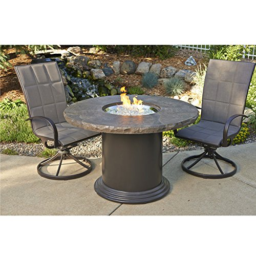 Outdoor Great Room MNB-48-DIN-K Round Colonial Table Marble Top, 30""