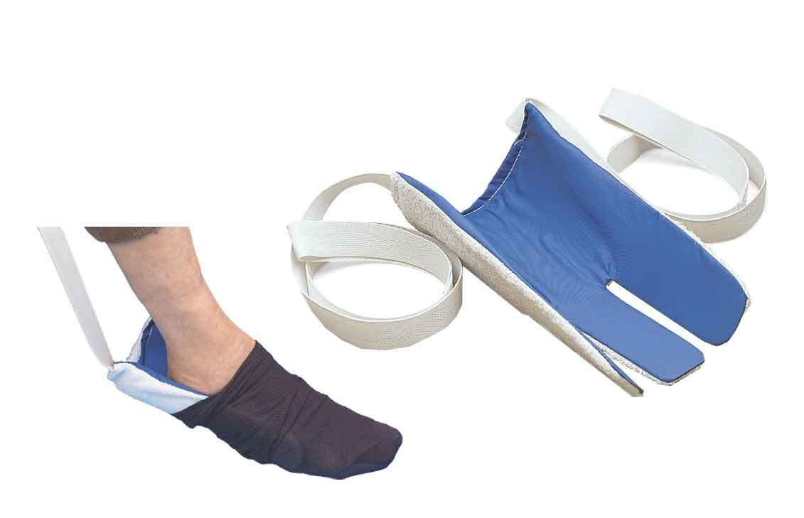 ArcMate Sock Aid Deluxe, Sock Dressing Aid, Non-Slip Terrycloth Exterior with Slippery Nylon Lining, Operates with 1 or Both Hands, Loop Handles with 29'' Straps (15448) by ArcMate