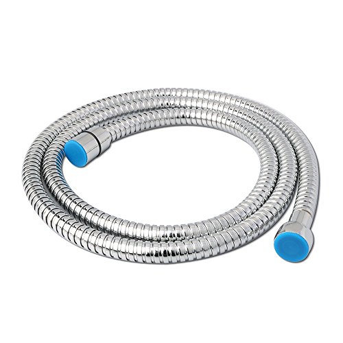 durable service Alise I2150 Extended Length Replacement 59-Inch OR 150CM Stainless Steel Interlock Handheld Shower Hose, Polished Chrome
