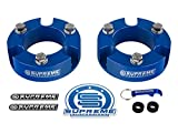 Supreme Suspensions - Toyota Tacoma Leveling Kit 3'' Front Lift Aircraft Billet Strut Spacers (Blue)