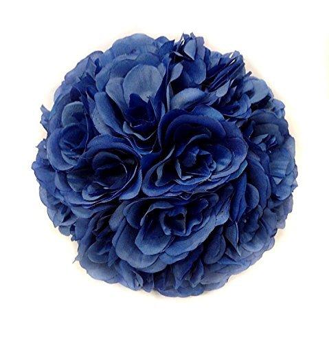 CYNDIE-Wedding-Flower-Blue-15-40cm-59-157-Silk-Rose-Pomander-Flower-Kissing-Ball-Wedding-Party-25cm-98