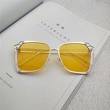 Sunyan Sonnenbrillen für die alten Männer und Frauen allgemein Tinte spiegel Persönlichkeit unregelmäßige Brillen, Kaffee gerahmte Kaffee