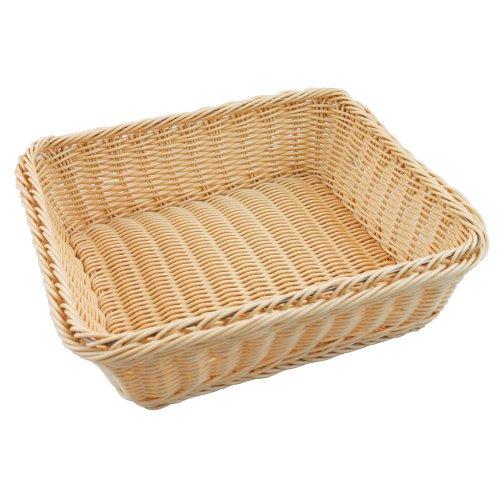Paderno World Cuisine 4-Inch High Polyrattan Bread Basket, 2/3 Hotel Pan Size