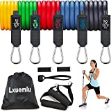 2020 Upgraded Resistance Bands Set, Lxuemlu Exercise Bands with Handles, Door Anchor, Ankle Straps - for Resistance Training, Yoga
