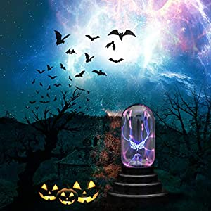 CozyCabin Butterfly Plasma Ball Light, Magic Thunder Lightning Plug-In Touch Sensitive – USB Powered For Parties, Decorations, Kids, Bedroom, Home