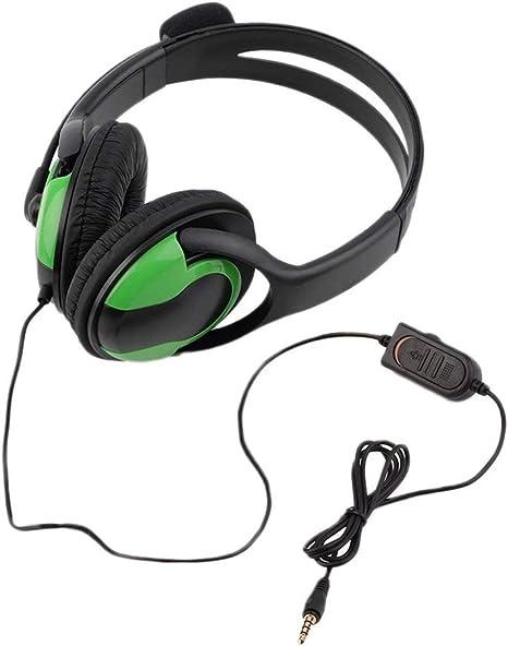 fghdfdhfdgjhh 3.5mm Audio con Cable Juegos para Auriculares Auriculares Auriculares Micrófono Steoro para Playstation 4 PS4 Juegos PC Chat para iPad / Mp3 / 4: Amazon.es: Electrónica