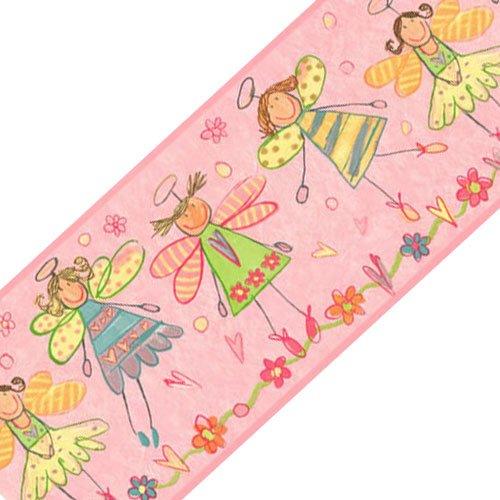Sure Strip Pink Fairy Princess Angels Prepasted Wall Border Roll