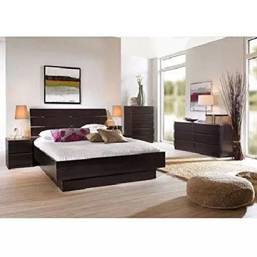 Tvilum Laguna 3-piece Full Bed, Night Stand and 5 Drawer