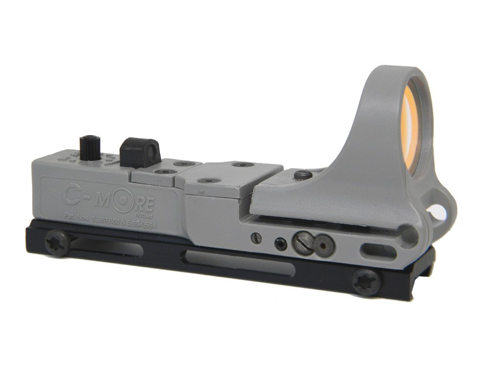 C-MORE Systems Railway Red Dot Sight with Standard Switch, Gray, 4 MOA by C-MORE Systems