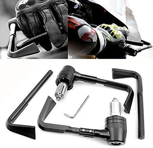 Ictronix Paar Universal 7 8 Motorrad Handprotektoren Nachrüstsatz Handschützer Protektor Schwarz Auto