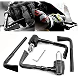 Universal 22mm freno de palanca de embrague manillar de motocicleta de freno de palanca de embrague de protector negro