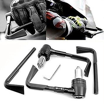 Universal 22mm freno de palanca de embrague manillar de motocicleta de freno de palanca de embrague de protector negro: Amazon.es: Coche y moto