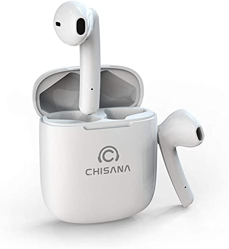Wireless Earbuds, CHISANA Bluetooth Headphones with Stable Connection, Instant Pairing and Microphone Binaural Calls, 4.5 Hours Continuous Playtime, 30 Hours Total Playtime with Charging Case