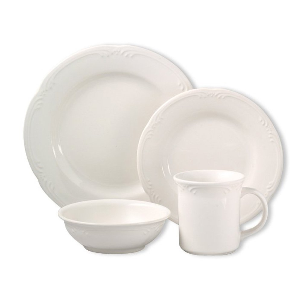 Amazon.com | Pfaltzgraff Filigree 16-Piece Dinnerware Set. Service ...
