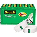 Scotch Magic Tape, Matte Finish, The Original, Versatile, Engineered for Mending, 3/4 x 1000 Inches, Boxed, 6 Rolls (810K6)