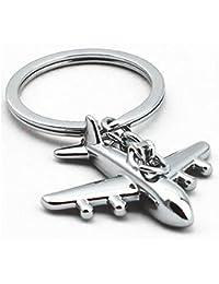 Mini Airplane Alloy Keychains Keyring Creative Keyfob (pack of 2)