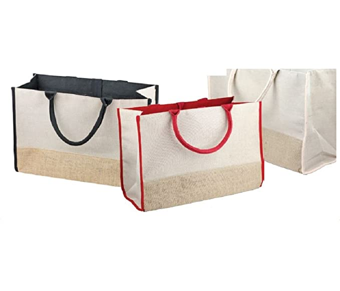 Amazon.com: Moda mezcla de yute algodón bolsa Bolsas ...