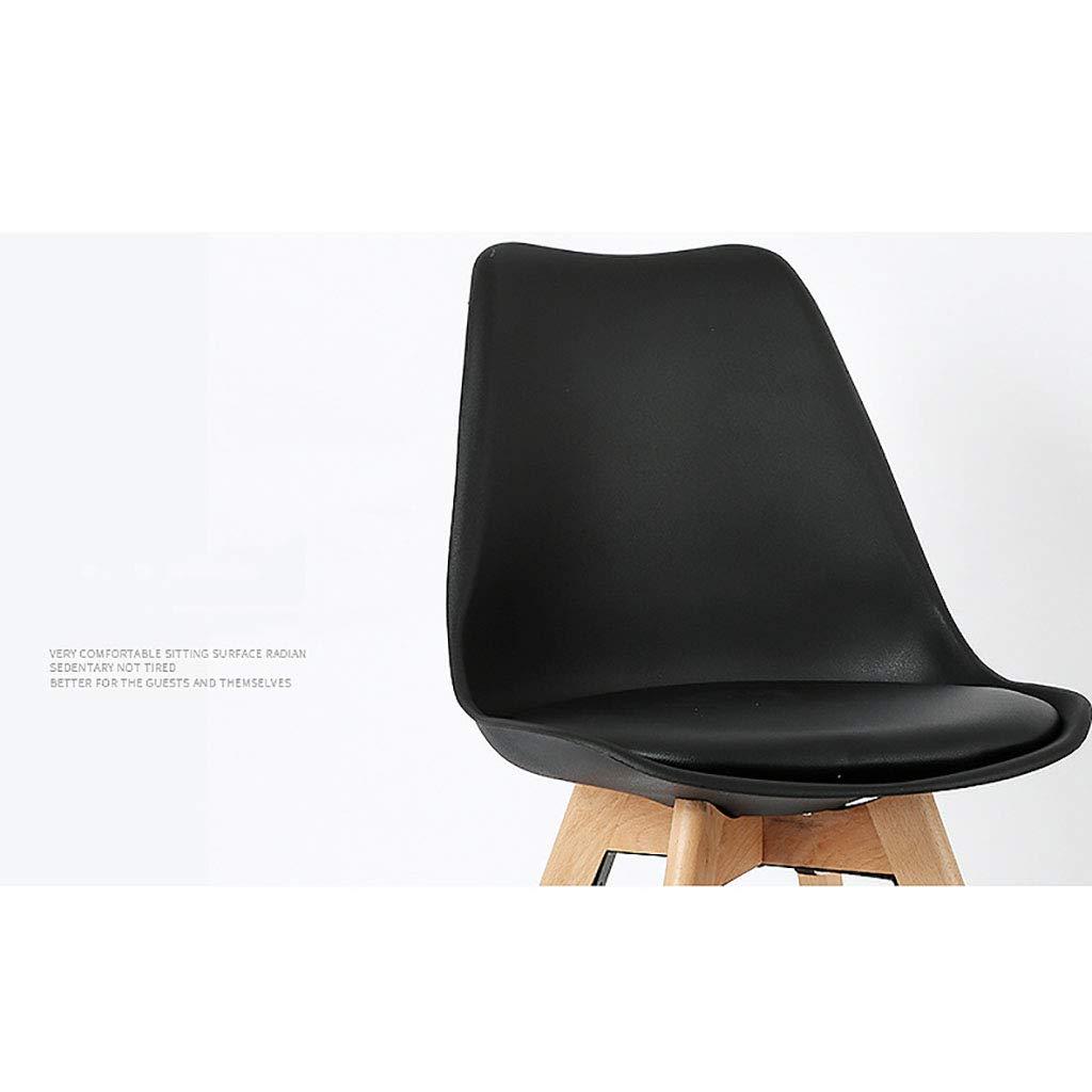 QYJ- Nordisk massivt trä matstol fritid kontor enkel modern tulpanmottagning förhandling måltid plaststol (sitthöjd: 82 cm) gRÖN
