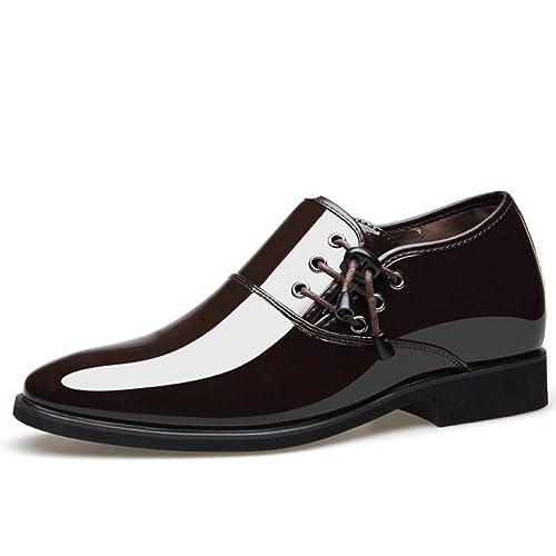 Traje de Cuero Puntiagudo del Negocio de los Hombres Calzado Puntiagudo bajo para Ayudar a los Zapatos de Trabajo Calzado de Uso Interno Zapatillas para ...