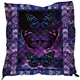 YunTu 3D Printed Butterfly Camp King Quilt
