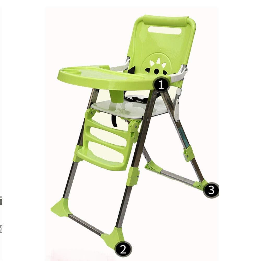 子供の世話をするための良いアシスタントハイチェア調節可能な授乳ベビーハイチェアソリューション赤ちゃんのためのトレイ幼児幼児 赤ちゃんを転倒から守る (色 : 緑)  緑 B07SD44ZKD
