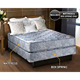 Chiro Premier Orthopedic (Blue Color) Queen Size (60x80x9) Mattress and Box Spring Set - Fully Assembled, Good for your back, Superior Quality, Long Lasting and 2 Sided - By Dream Solutions USA