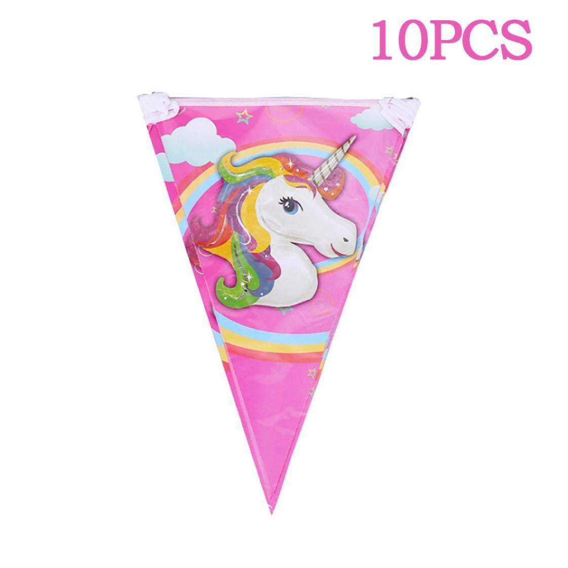 Bongles Decoraci/ón Partido del Unicornio Unicornio 10pcs Fiesta De Cumplea/ños del Unicornio De Paja Tema De La Historieta Decoraci/ón del Partido