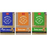 Buddy Biscuits Original Itty Bitty All Natural Treats For Dogs 3 Flavor Variety Bundle: (1) Buddy Biscuits Itty Bitty All Natural Peanut Butter, (1) Buddy Biscuits Itty Bitty All Natural Bacon Cheese, and (1) Buddy Biscuits All Natural Roasted Chicken, 8 Oz. Ea. (3 Boxes Total)
