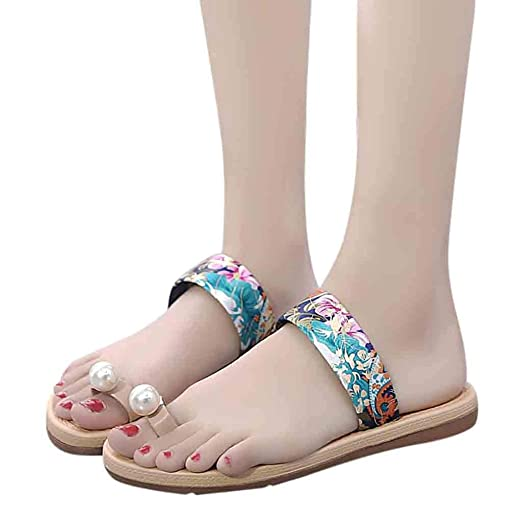 083dddc95 2019 Fashion Women s New Shoes Non-Slip Flats Shoes Slippers Ladies Causal  Pearl Round Toe