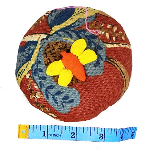 PeavyTailor 10 oz Emery Pin Cushion and Fabric Pattern Cloth/Fabric Weight - Dragonfly Orange
