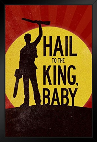 Hail to The King Baby Movie Black Wood Framed Poster 14×20 inch