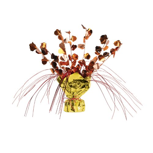 Beistle 1-Pack Decorative Acorn Gleam and Spray Centerpiece, 11-Inch