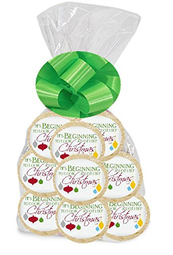 Beginning to Look like Christmas 24Pack Freshly Baked Individually Wrapped Party Favor Sugar Cookies