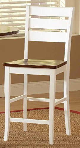Bernards Ridgewood Barstool, Mahogany Finish, Set of 2