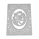 Healifty Plantilla de Plantilla de grabación en Relieve para álbum Scrapbooking Tarjeta de Papel Arte Artesanía Decoración (Elfo Bailando)