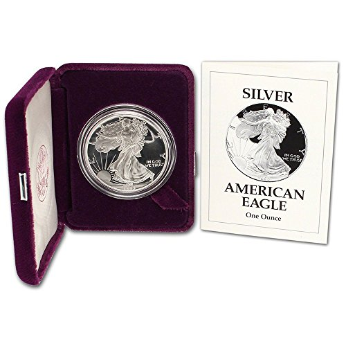 1993 P Proof American Silver Eagle $1 with OGP/COA ()