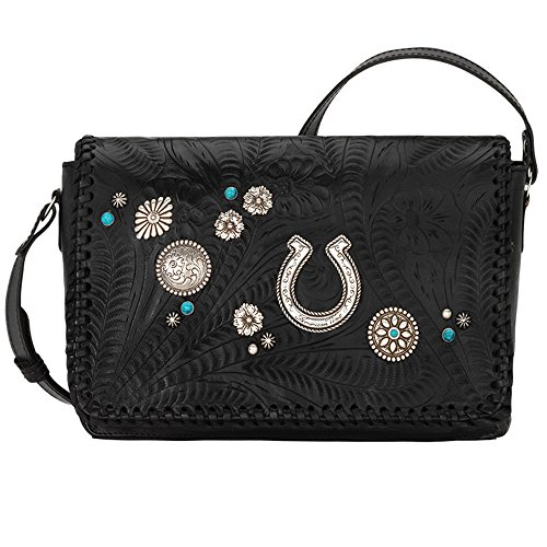 American West Women's Lariat Love Crossbody Bag/Wallet Black One Size by American West (Image #3)