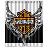 Bestselling POPcases Supplier Flawless Creative gorgeous retro Harley Davidson II Shower Curtain Shower 100% WaterProof Polyester Fabric 60