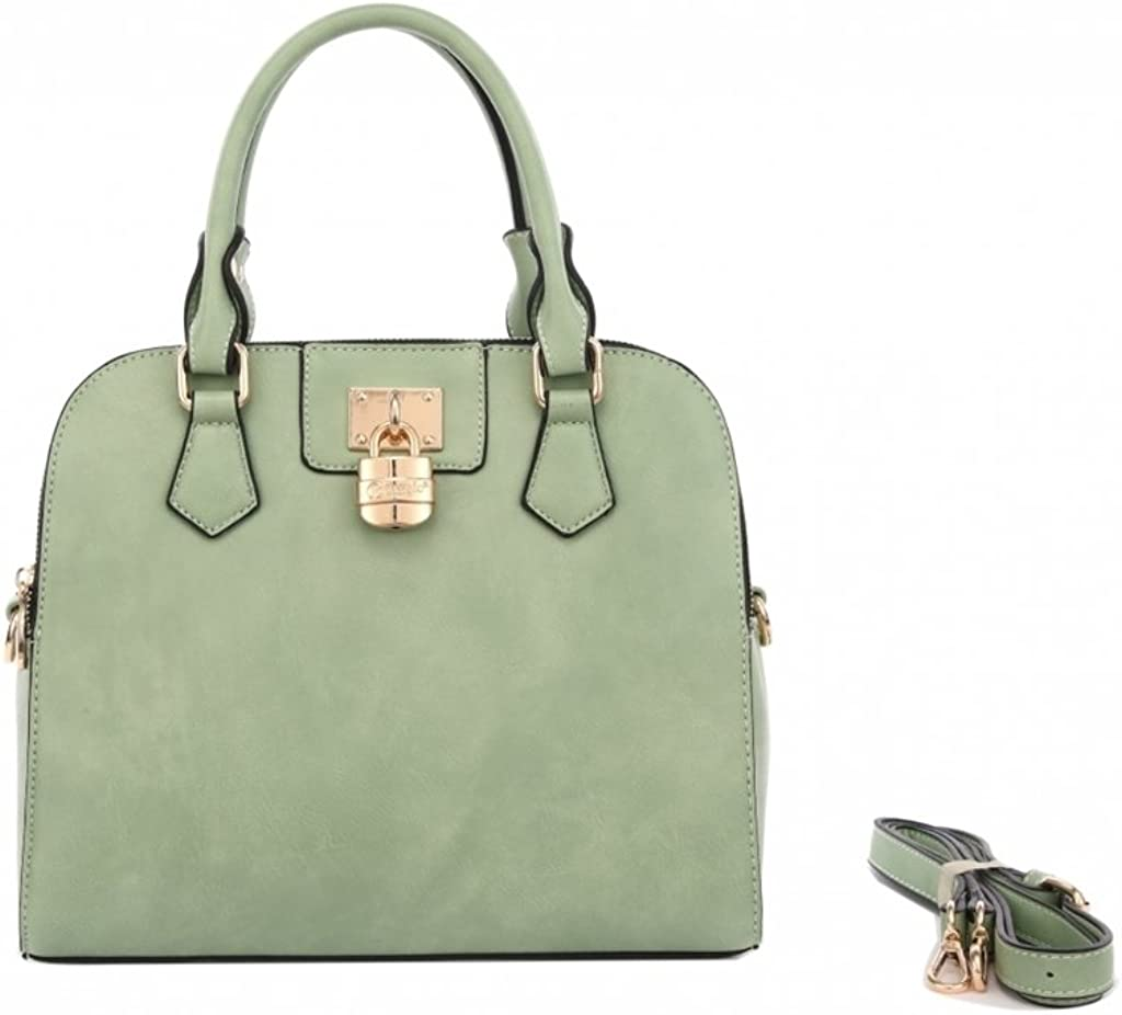 Verona H /& L New Womens Velvet Hearts Vegan Leather Handbag