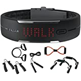 Polar Loop Activity Fitness Tracker in Black + Sharper Image 7-in-1 Resistance Fitness Kit