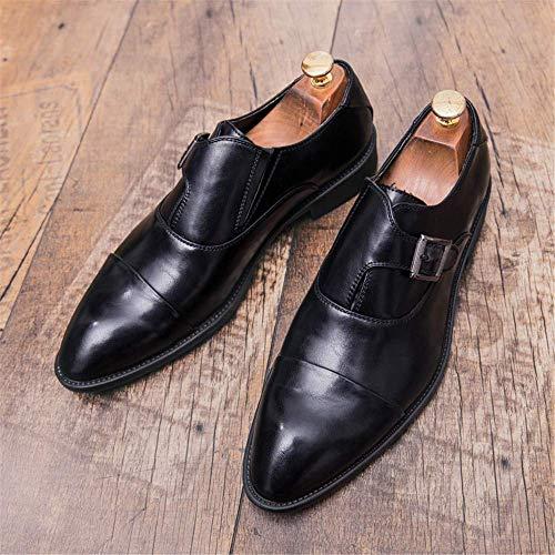 Botones 40 Ue color Cómodos Formales Ocasionales Negocios Negro Transpirables Metal Hombres 2018 Gran Zapatos Negro Tamaño Peso Bajo De Oxford Tamaño Para awxYRn0Hvq
