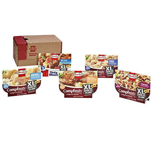 Hormel Compleats XL - XL Variety Pack - Microwave Meals - No Refrigeration Needed (5 Pack)