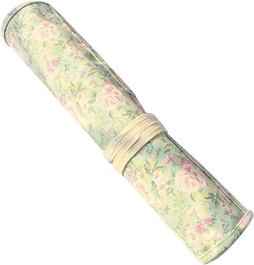 Toyvian Pinceles para Pintar Estuche Wrap Roll Up Bolígrafo con Estampado de Flores Organizador de Almacenamiento de Lona Bolsa para niños Artista Estudiante: Amazon.es: Hogar