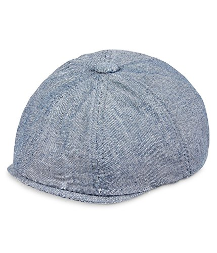 Sean John Mens Solid Newsboy Hat Navy M/L
