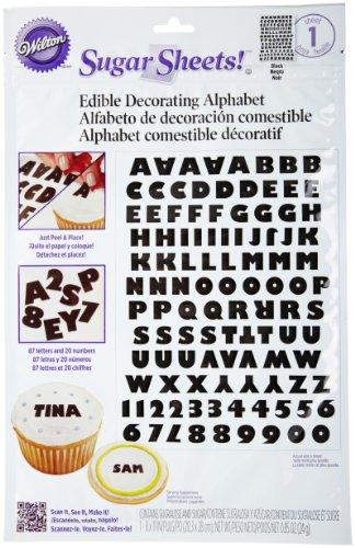 (Wilton Black and White Alphabet Sugar)