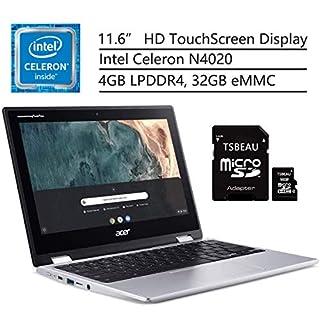 "Acer Chromebook Spin 311 Laptop, Intel Celeron N4020, 11.6"" HD Touchscreen, 4GB LPDDR4, 32GB eMMC, Gigabit WiFi 5, Bluetooth 5.0, Google Chrome, Bundled with TABEAU 16GB Micro SD Card"